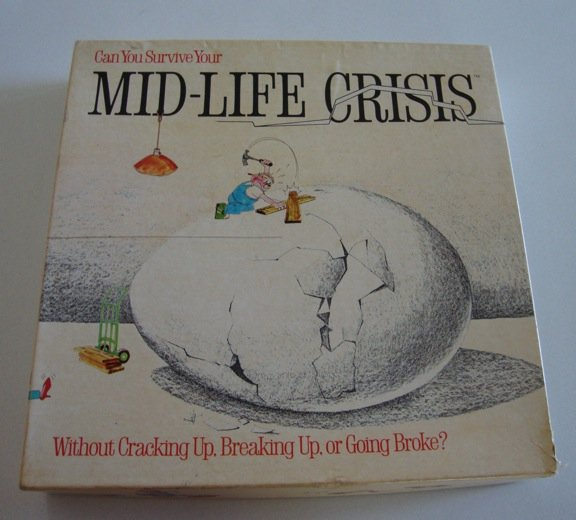 Vintage 1982 Game Works Mid-Life Crisis Board Game