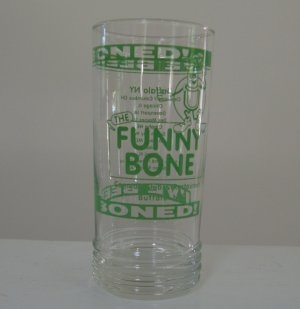 I'm been boned! The Funny Bone Comedy Club Buffalo NY Glass Tumblers Set of 3