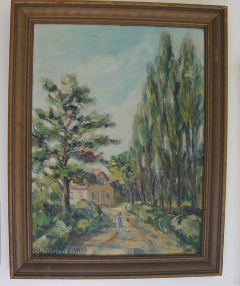 Grace Whitehead Phillips Landscape Original Oil Painting on Canvas Board