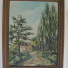 Grace Whitehead Phillips Landscape Original Oil Painting on Canvas Board