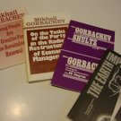 Vintage 1980s Novosti Press Soviet / Mikhail Gorbachev Booklet - Set of 4
