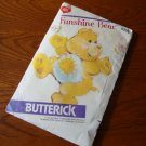 Vintage 1983 Butterick 6225 Sewing Pattern Funshine Care Bear