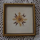 Vintage Village Green Country Crafts Real English Flower Framed Art