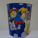 "Vintage 1999 Garfield ""Court Cat"" & Odie Basketball Metal Wastebasket"