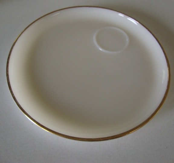 "Vintage Anchor Hocking Fire King Milk Glass 9"" Snack Plate - Set of 2"