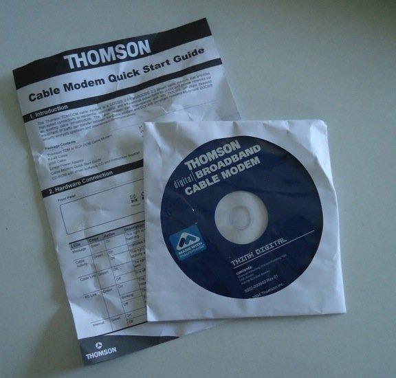 RCA Thomson Digital BROADBAND Modem CD