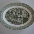 "Royal USA Green Old Curiosity 13"" Oval Serving Platter"