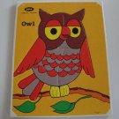 Vintage Jaymar Mary Warren #515 Owl Frame Tray Puzzle