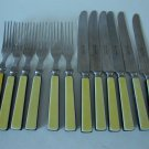 Vintage 1950s Robinson Knife Co. Stainless Folk & Butter Knife Set of 6