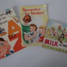Vintage 1950s National Dairy Council Children's Booklets Set of 3