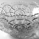Vintage Imperial Broken Arches CLEAR Punch Bowl