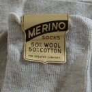 NWT New Merino Socks Wool / Cotton blend Mens Size 13