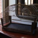 Vintage Genykage Art Deco Chrome Bird Cage England