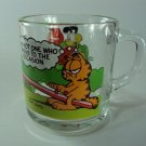 Vintage 1980s McDonald's Garfield Glass Mug