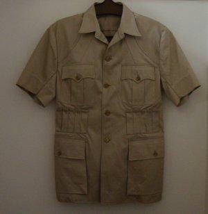 Kenyan Custom Tailored Cotton Twill Khaki Safari Shirt