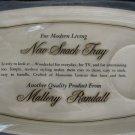 Vintage Mallory Randall Molded Plastic Plastic Snack Tray NIP