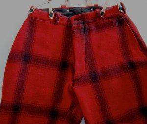 Vintage Wool Red & Black Plaid Hunting Pants Size 32