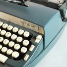 Vintage 1968 SCM Super Sterling Portable Typewriter & Case