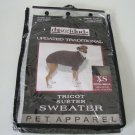 New Vo-Toys Doggiduds Updated Traditional Sweater Charcoal - XS