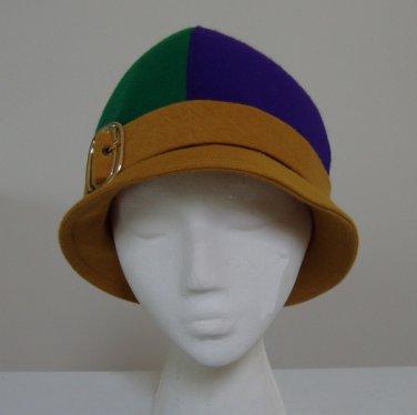 Vintage 1960s Mr. Phil Mod Parti-colored Bobby Hat