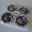 Vintage Hawaiian Souvenir Metal Coasters - Set of 4MIP