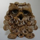 Vintage 1980s Hindt Studio Pottery Stoneware Owl with Glasses