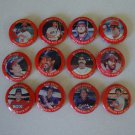 Vintage 1984 Fun Foods Baseball Button Pins Set of 39