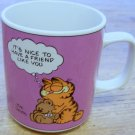 Vintage 1978 Enesco Garfield & Pooky Friendship Ceramic Coffee Mug