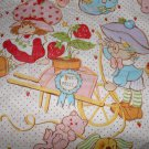 Vintage 1980 Sears Strawberry Shortcake Twin Fitted & Flat Bed Sheets
