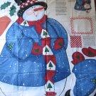 "1997 Daisy Kingdom Snowman Christmas Holiday 43"" Door Panel Cut & Sew Fabric #3768"