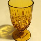 Amber Glass Water Goblets - Set of 4