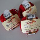 FibraNatura Sensational Merino Wool Fire Red Lot of 3