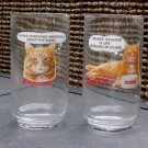 Vintage 9 Lives Morris the Cat Glass Tumbler - Set of Two