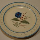 Vintage Stangl Blue Daisy Bread & Butter Plate Set of 5