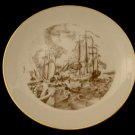 Vintage 1976 Royal Devon USA Fine China 1776 Battle Of Lake Champlain Plate