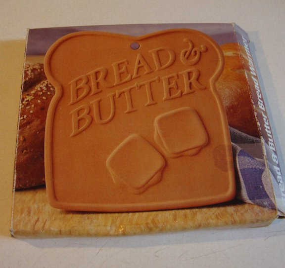 Vintage 1995 Boston Warehouse Terra Cotta Bread & Butter Bread Warmer