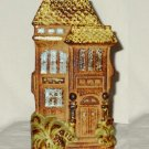 Vintage Stoneware Victorian House Wall Pocket Vase