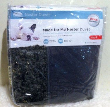 NWT Petco Made for Me Pebble Gray Nester Duvet Dog Bed Cover