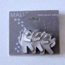 Mali for Alexis Reed Pewter Dancing Cat Trio Brooch - NWT