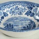 Vintage Lochs of Scotland Blue by Royal Warwick Dessert / Berry Bowl
