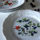 Lierre Sauvage France Dansk 8'' Salad / Dessert Plate Berries Set of 4