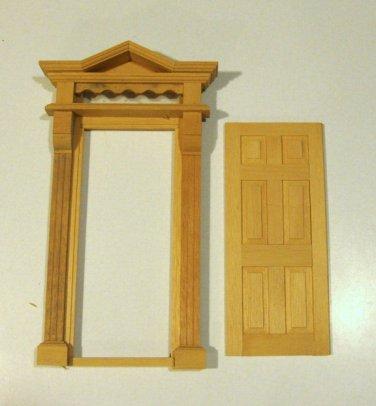 Vintage Dollhouse Victorian Door Frame with Door