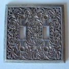 Vintage Metal Scroll Double Light Switch Plate Cover