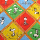 Vintage 1970s JC Penney Peanuts Gang Flat Bed Sheet  - Twin Size
