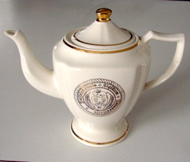 Vintage WC Bunting Seal of University at Buffalo Teapot