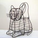 Cat Shape Wire Egg Basket
