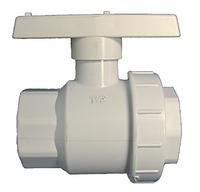 New - PV1450 - 1 1/2 PVC Single Union Ball Valve