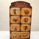 Vintage Wooden Sewing Notion Cabinet - Japan