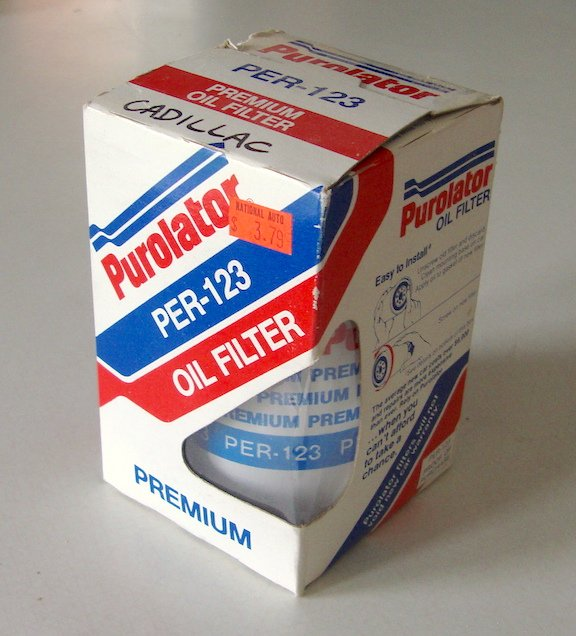 NOS 1980s PUROLATOR PER-123 Engine Oil Filter