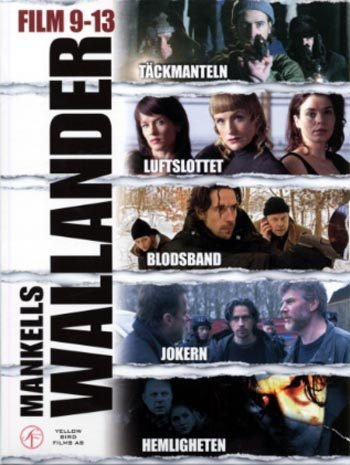 Wallander 9-13 movie box (English subtitles)R2 New DVD